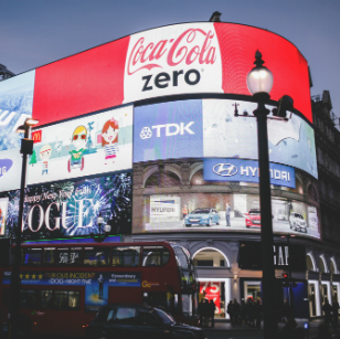 Billboards at Piccadilly Circus